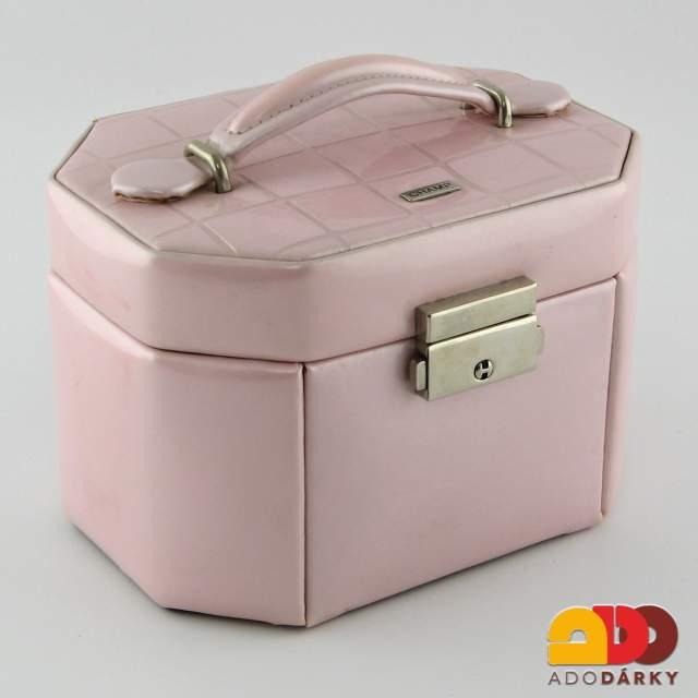 Kufřík na šperky růžový 16 x 12 x 11 cm   ADO dárky - e-shop s dárky pro  každého
