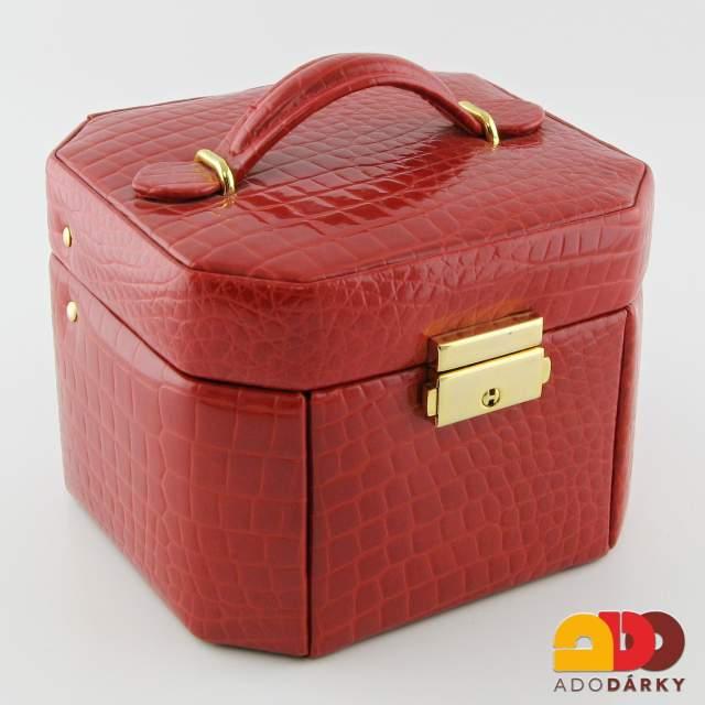 Kufřík na šperky červený 15 x 14 x 11 cm   ADO dárky - e-shop s dárky pro  každého