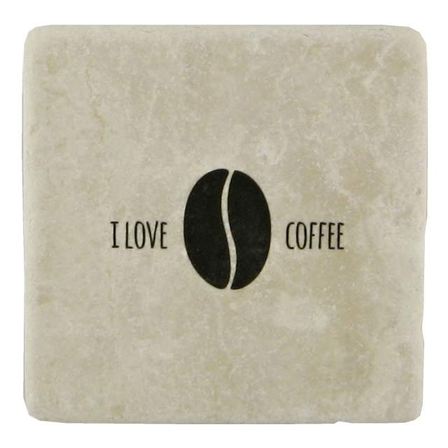 "Mramorový podtácek ""I love coffee"" 10 x 10 cm"