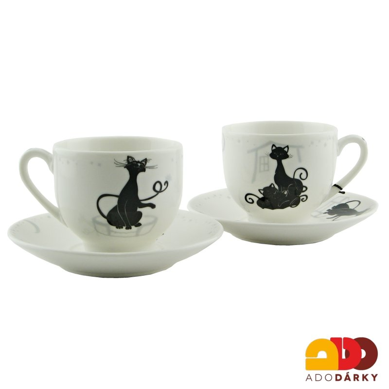 "Duo šálky moka ""Crazy cats"" 0,1l"
