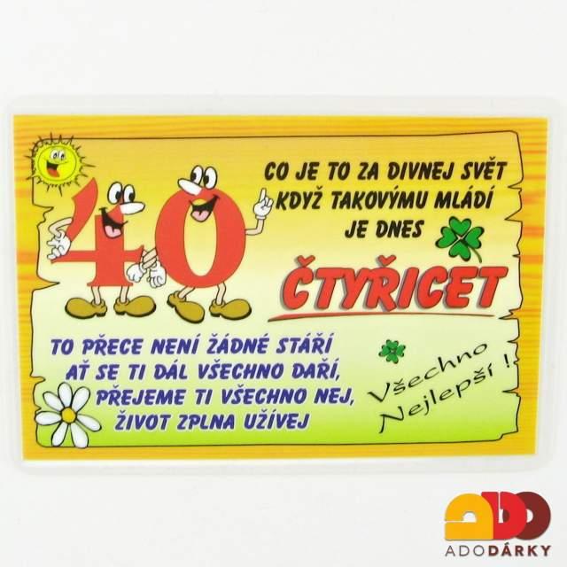 přání k narozeninám 40 let Mým 40 Narozeninám   MuzicaDL přání k narozeninám 40 let