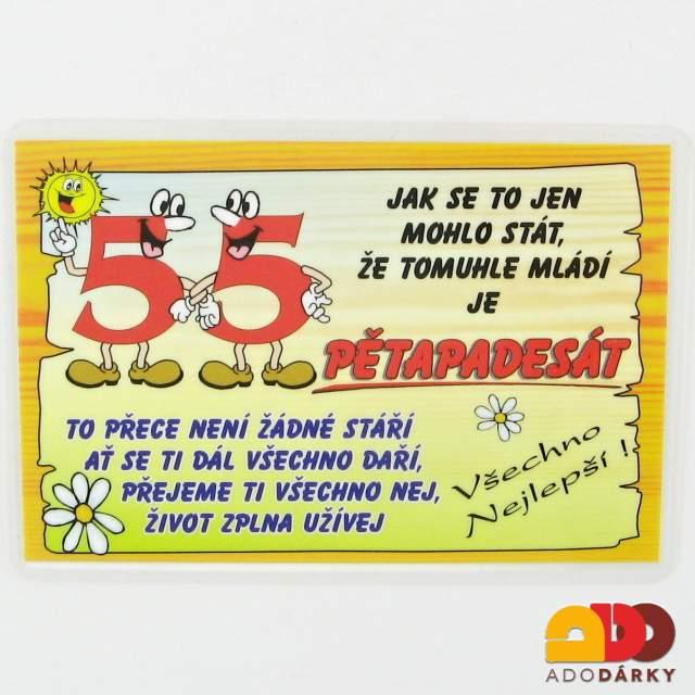 blahopřání k 55 narozeninám Dárky pro jubilanty | 55. narozeniny | ADO dárky   e shop s dárky  blahopřání k 55 narozeninám