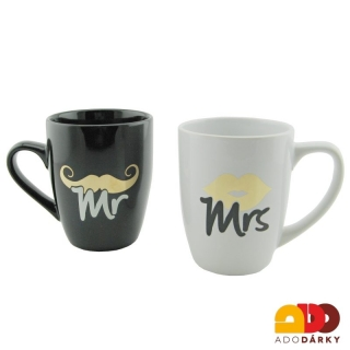 "Duo hrnky ""Mr + Mrs"" 300 ml"
